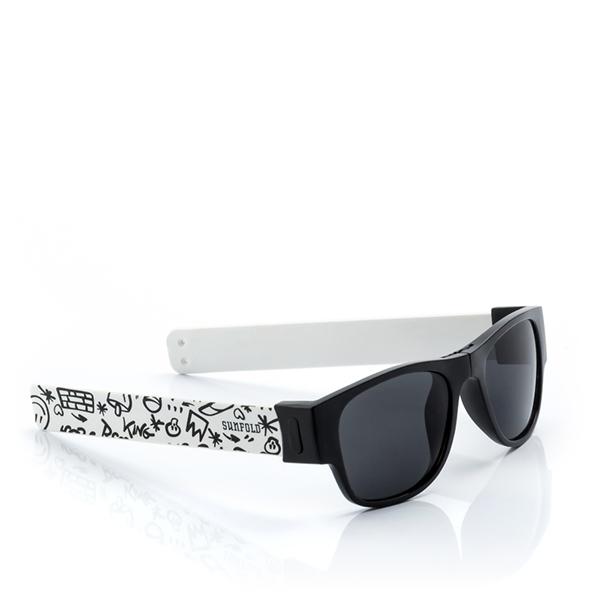 Gafas de sol enrollables Street - Blanca-Negro X