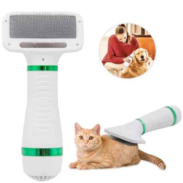 Cepillo Secador Mascotas 2 en 1